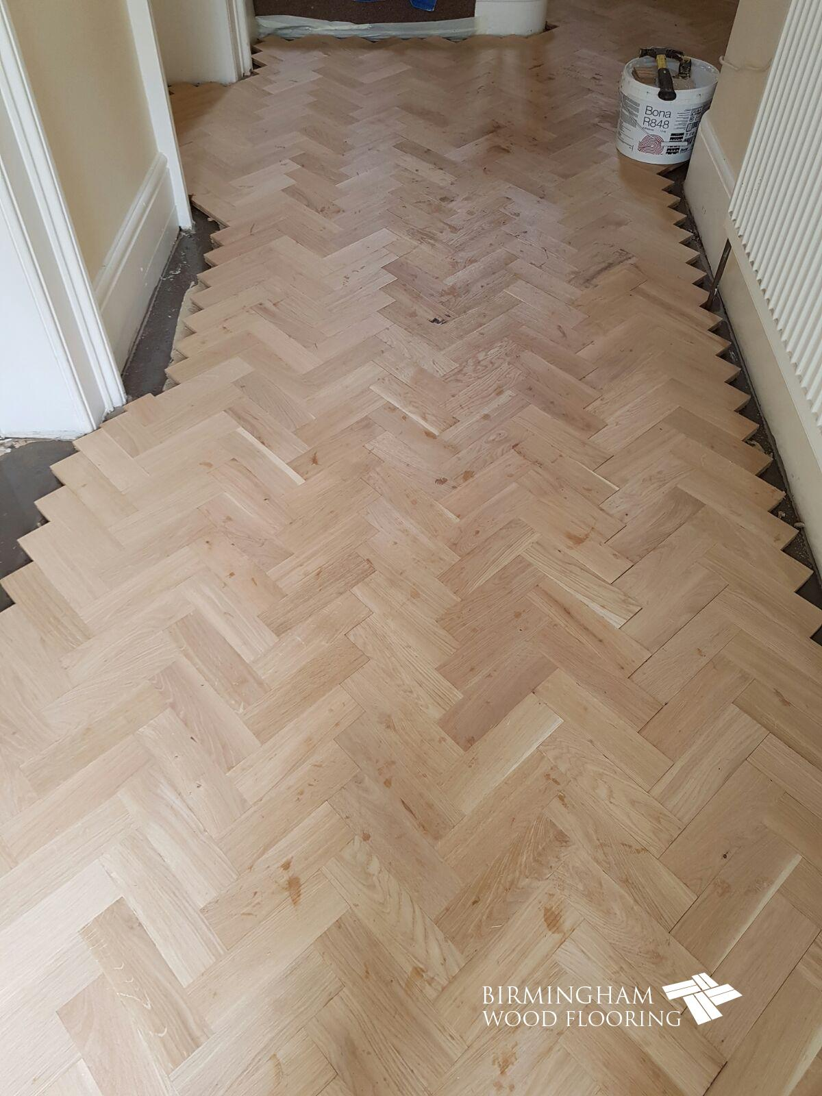 Parquet-floor-ready-to-have-the-Wenge-Feature-strip-and-border-installed-Edgbaston-Birmingham-3