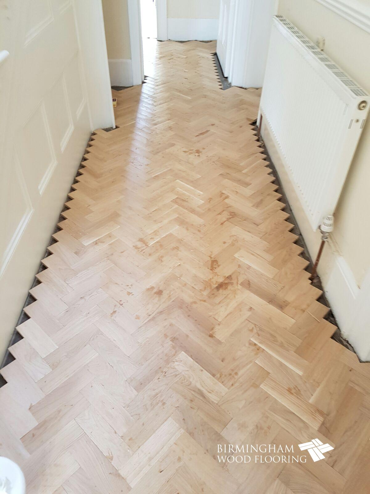 Parquet-floor-ready-to-have-the-Wenge-Feature-strip-and-border-installed-Edgbaston-Birmingham