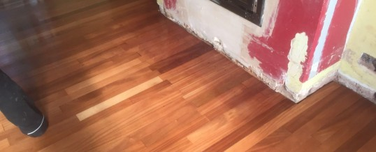 Repair to strip flooring, Hopwas Staffordshire