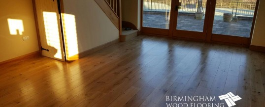 Restoration of existing wood flooring –  Hampton Lovett, Droitwich, Worcestershire
