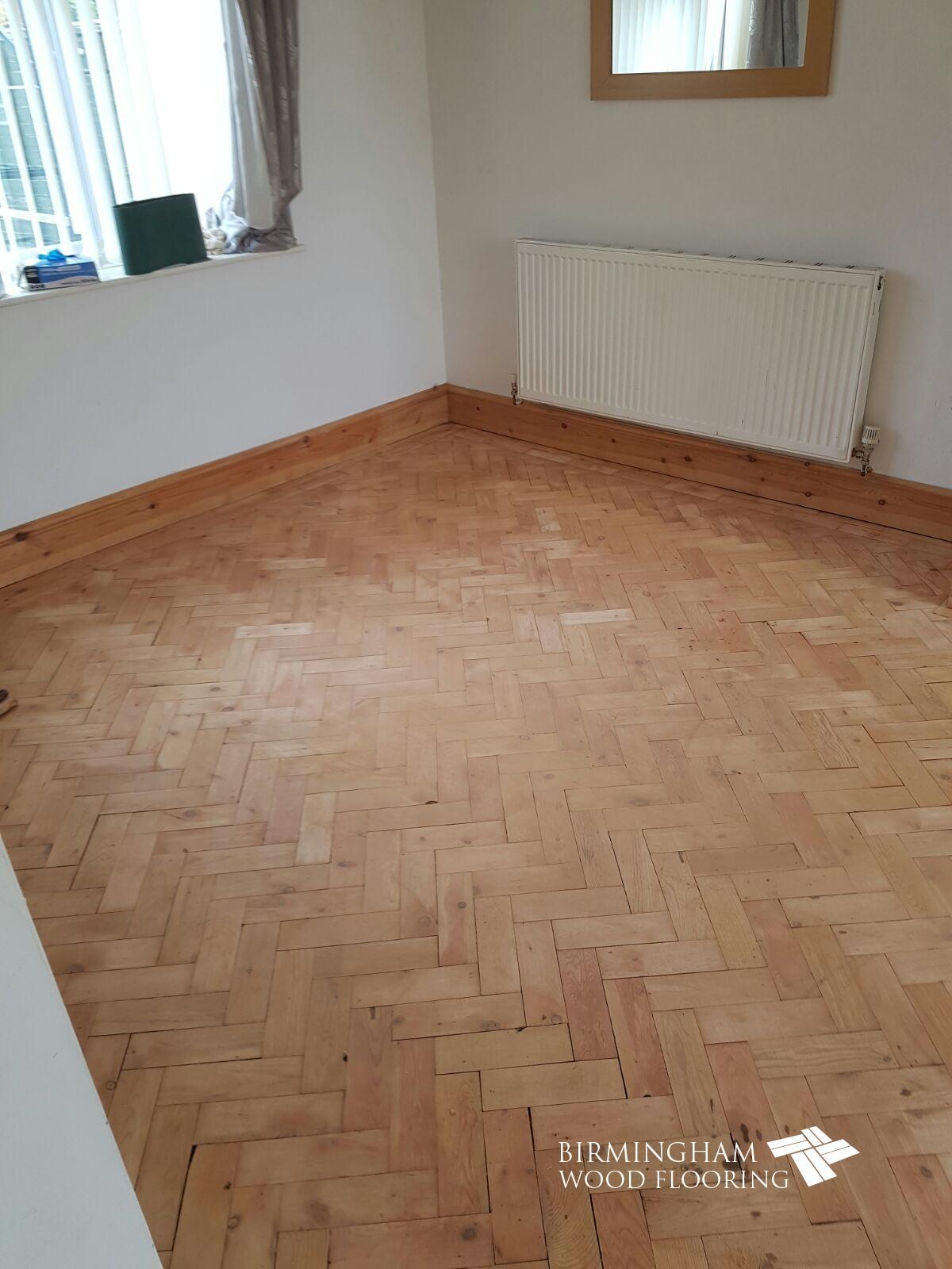 Restoration Of Wood Parquet Herringbone Floor Solihull