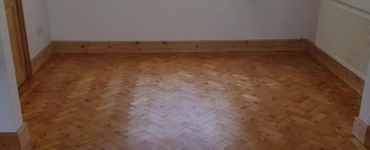 Restoration of wood parquet herringbone floor Solihull Birmingham