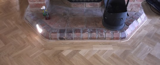 Double Herringbone Parquet floor –  Rowney Green, Worcestershire