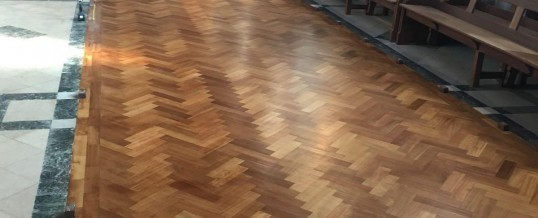Church Floor – Sanding & Sealing, Solihull