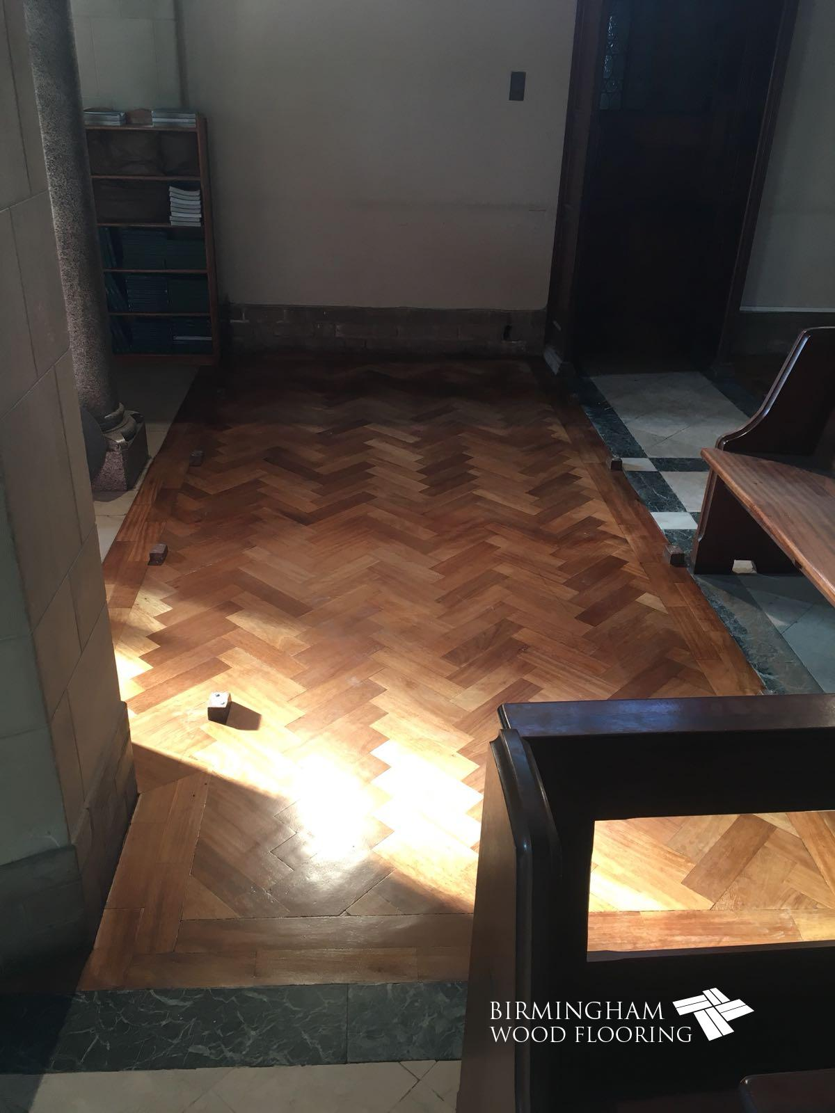 Church Wood Floor Restoration, Olton Friary