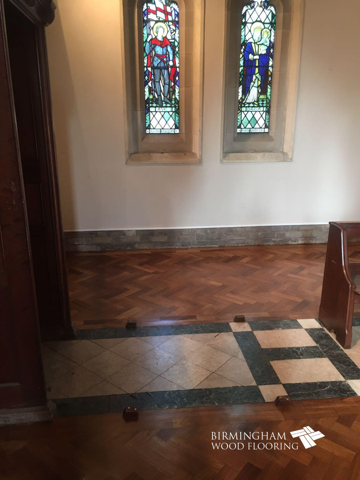 Church Wood Floor Restoration, Olton Friary, Solihull, Birmingham