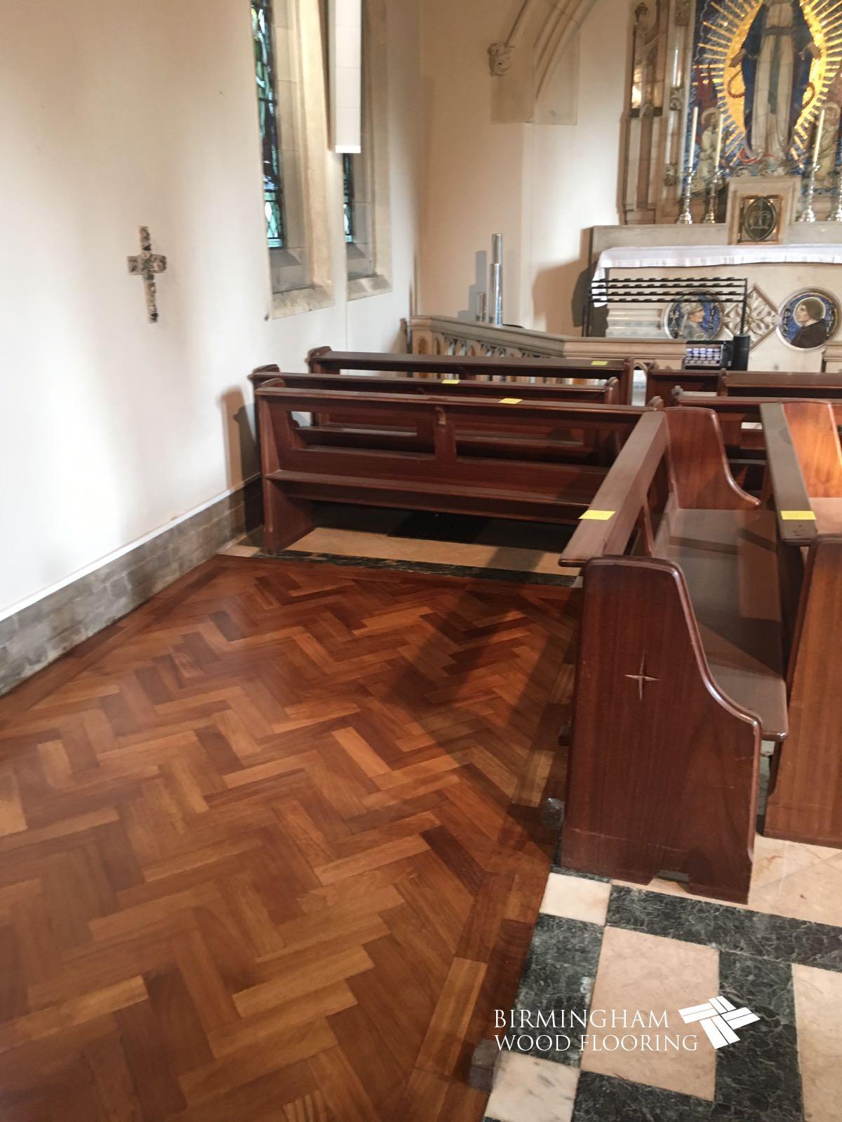 Parquet Block Flooring, Sanded & Resealed