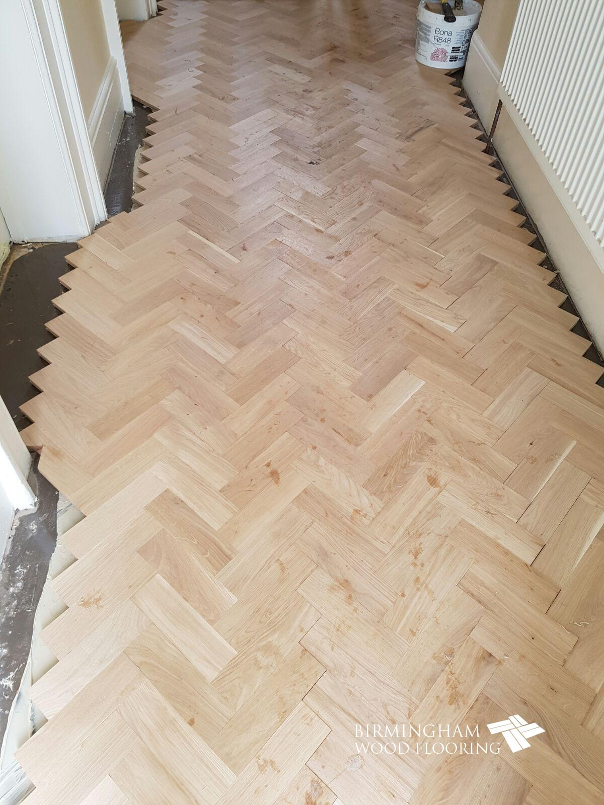 Parquet-floor-ready-to-have-the-Wenge-Feature-strip-and-border-installed-Edgbaston-Birmingham-2