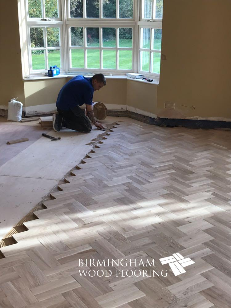 Dan installeing double herringbone